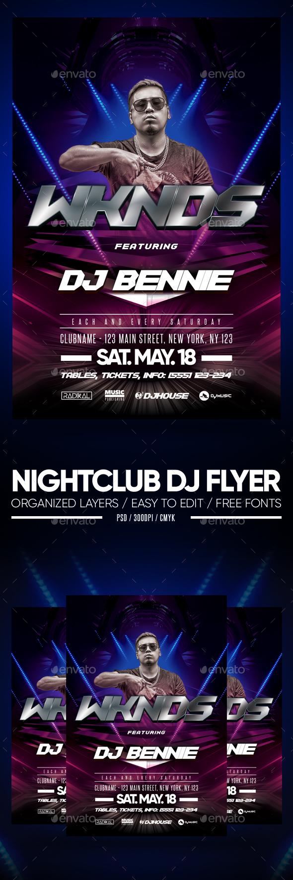 Flyers PSD – Nightclub DJ Flyer – Download
