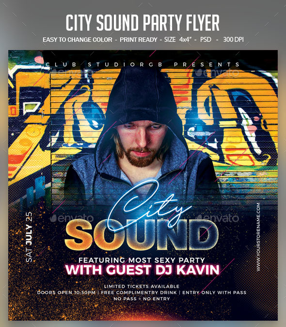 Flyers PSD – City Sound Occasion Flyer – Download