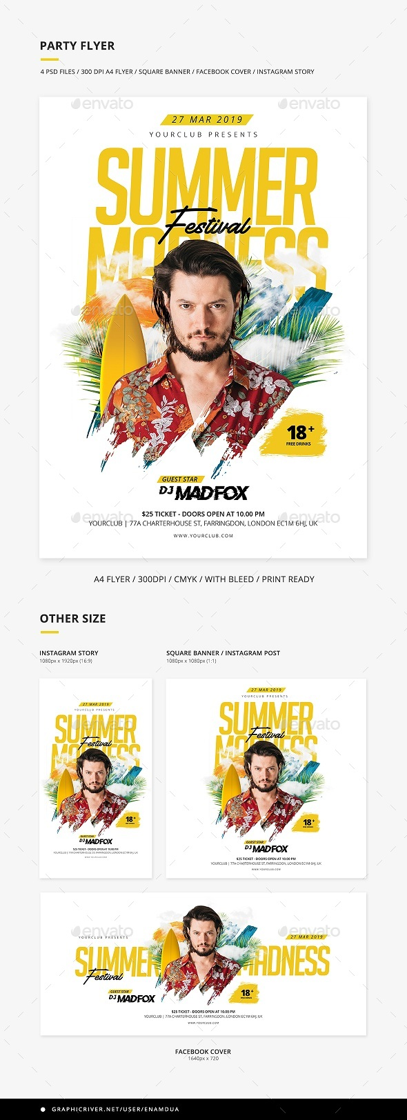 Flyers PSD – Summer season Celebration Flyer & Social media Banner Situation – Download
