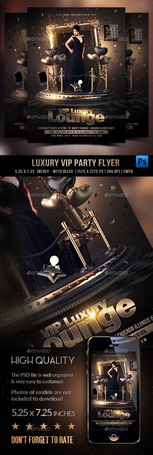 Flyers PSD – Luxury Vip Flyer – Download