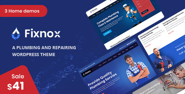 Fixnox – A Ultimate Plumbing WordPress Theme – WP Theme Download