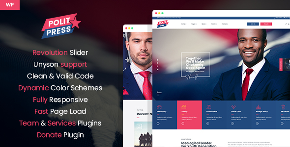 Politpress – Multipurpose Political WordPress theme – WP Theme Download