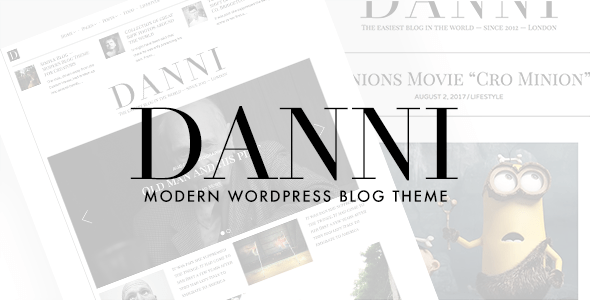Danni — Minimalist WordPress Blog Theme – WP Theme Download