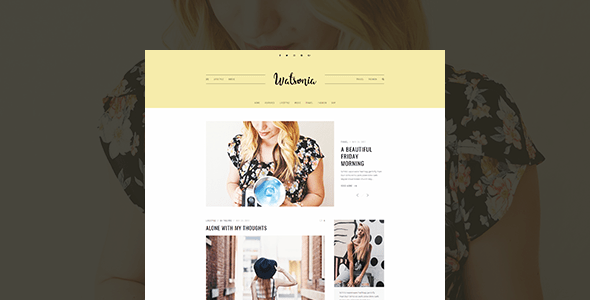 Watsonia – WordPress Blog Theme – WP Theme Download