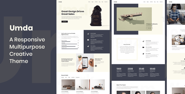 Umda – Responsive Multipurpose Ingenious Theme – WP Theme Download