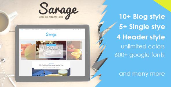 Sarage – Clear Blog WordPress Theme – WP Theme Download