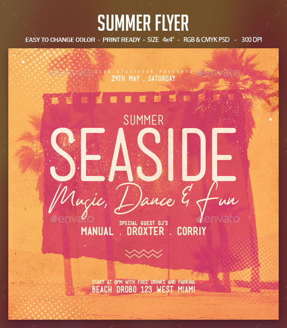 Flyers PSD – Summer Flyer – Download