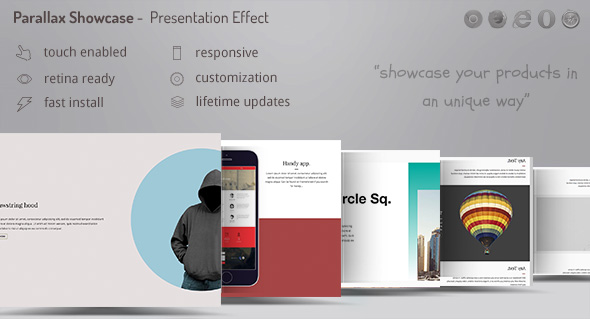 Parallax Showcase Outcomes – Present your products /w WooCommerce – PHP Script Download