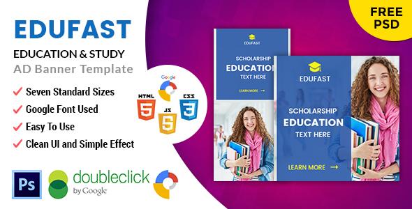 Edufast Training | HTML5 Google Banner Advert – PHP Script Download