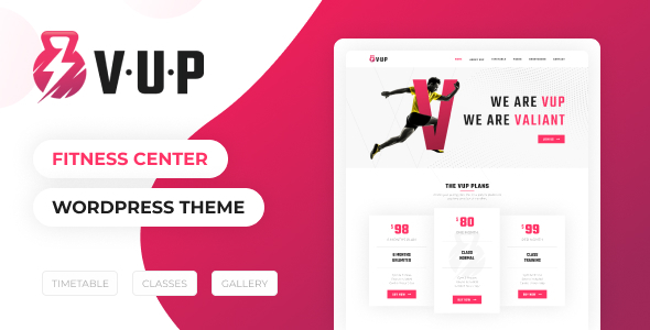 VUP – Fitness Heart WordPress Theme – WP Theme Download
