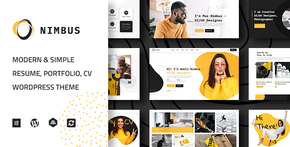 Nimbus – CV & Portfolio WordPress Theme  – WP Theme Download