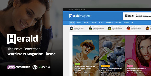 Herald – Newspaper & News Portal WordPress Theme – WP Theme Download
