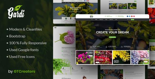 Gardening and Landscaping WordPress Theme – Gardi – WP Theme Download