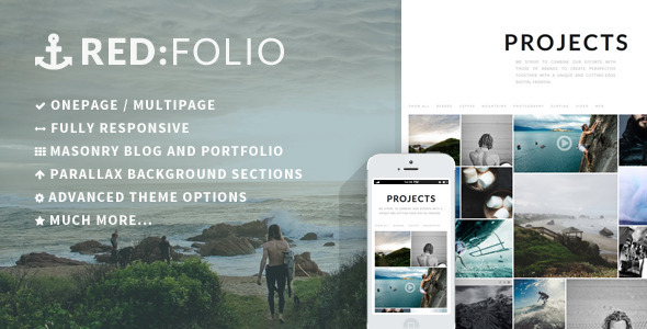 Redfolio – a Responsive OnePage WordPress Theme – WP Theme Download