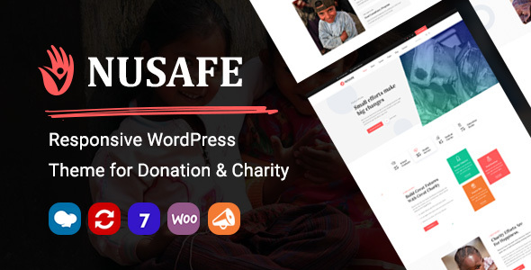 Nusafe | Responsive WordPress Theme for Donation & Charity – WP Theme Download