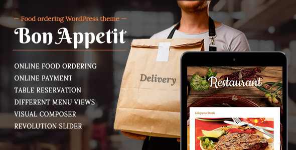 Meals ordering WordPress theme for Restaurant – Bon Appetit – WP Theme Download