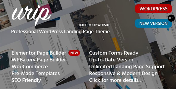 Knowledgeable Landing Page WordPress Theme – Urip – WP Theme Download