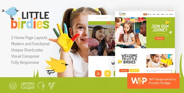 Microscopic Birdies | A Multipurpose Young of us Kindergarten WordPress Theme – WP Theme Download