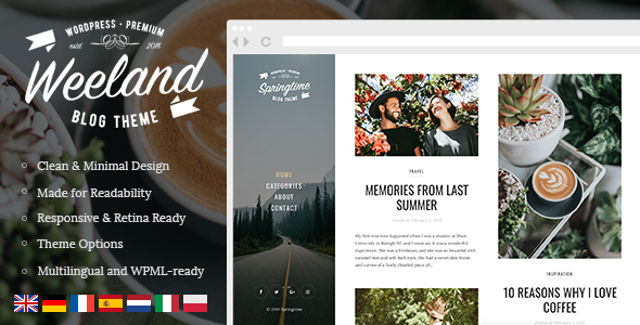 Weeland – Masonry Daily life WordPress Weblog Theme – WP Theme Download