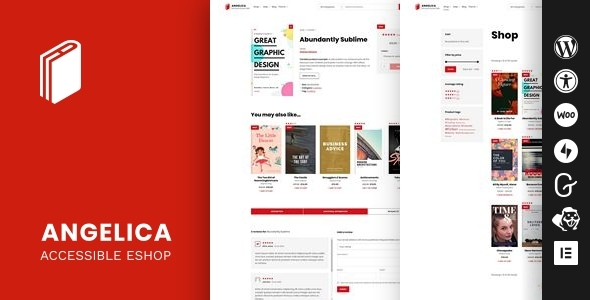 Angelica – Accessible Bookstall WordPress theme – WP Theme Download