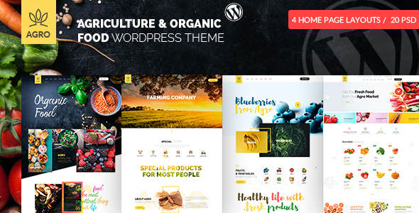 Agro – Organic Meals Agriculture Farm WordPress Theme – WP Theme Download