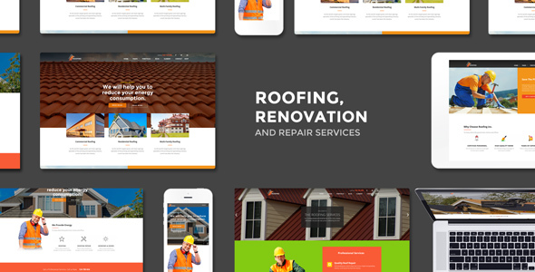 Roofing – Renovation & Restore Carrier WordPress Theme – WP Theme Download