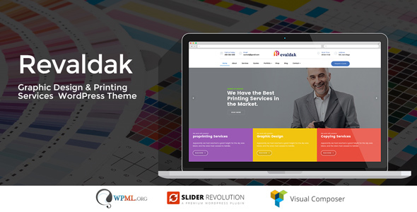 Revaldak – Printing Products and companies WordPress Theme – WP Theme Download