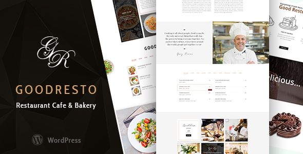 GoodResto – Restaurant WordPress Theme + Woocommerce – WP Theme Download