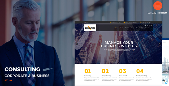 Consulting – Corporate and Industry WordPress Theme – WP Theme Download