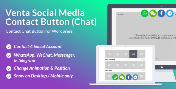 Venta Social Media Contact Button – PHP Script Download