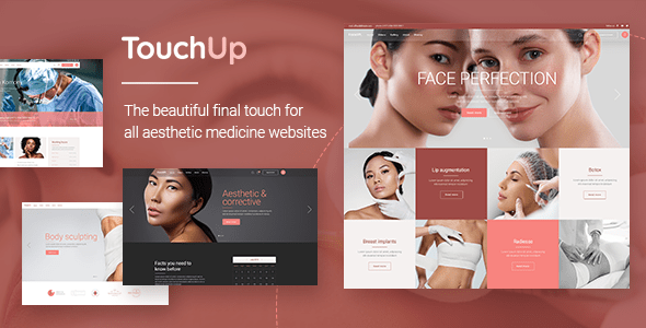 TouchUp – Beauty and Plastic Surgical operation Theme  – WP Theme Download