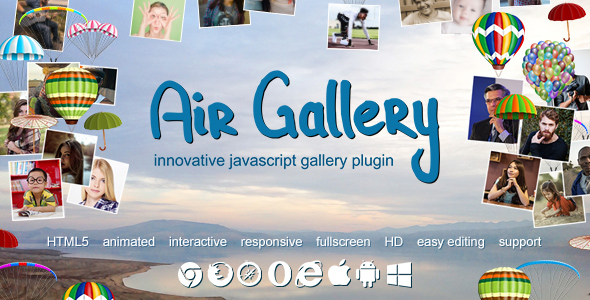 Air Gallery – JavaScript Gallery Plugin – PHP Script Download