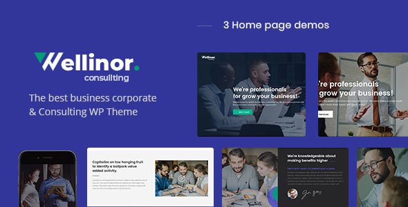 Wellinor – Replace Consulting WordPress Theme – WP Theme Download