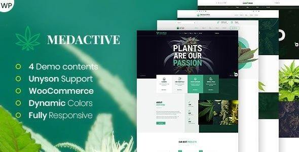 Medactive – Medical Marijuana Dispensary WordPress Theme  – WP Theme Download