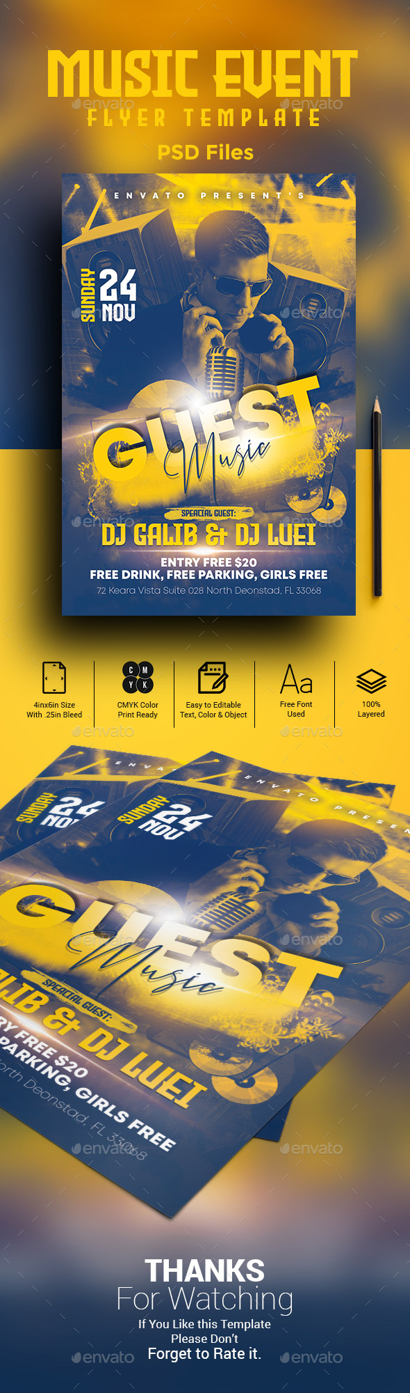 Flyers PSD – Song Match Flyer Template – Download
