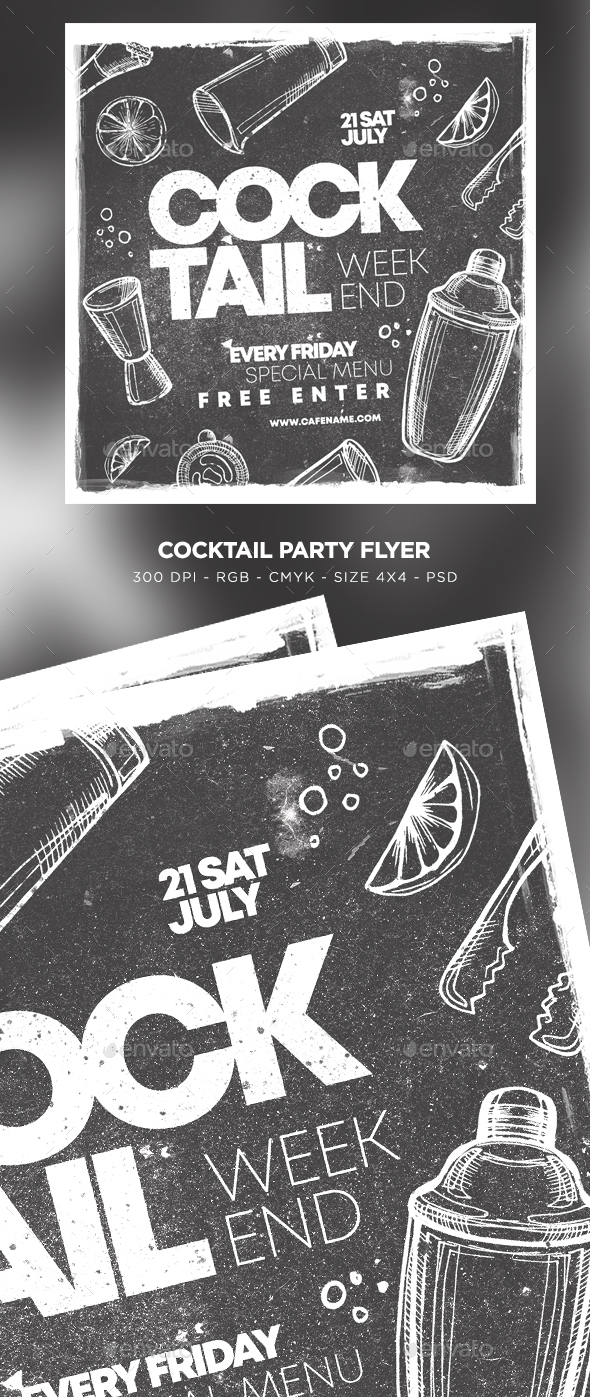 Flyers PSD – Cocktail Social gathering Flyer – Download
