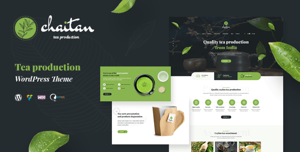 Chaitan – Tea Production Firm & Organic Retailer WordPress Theme – WP Theme Download
