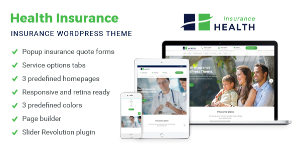 Health Insurance coverage – Enterprise WordPress Theme – WP Theme Download