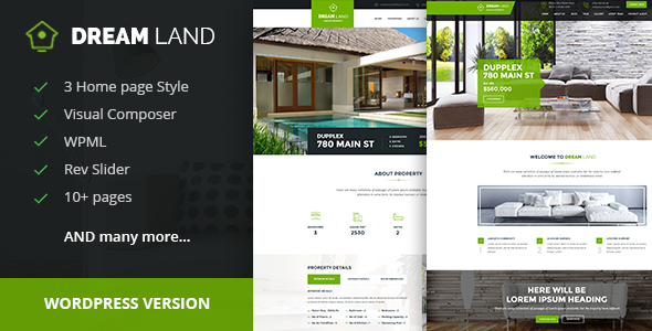 DREAM LAND- Single Property Exact Property WordPress Theme – WP Theme Download