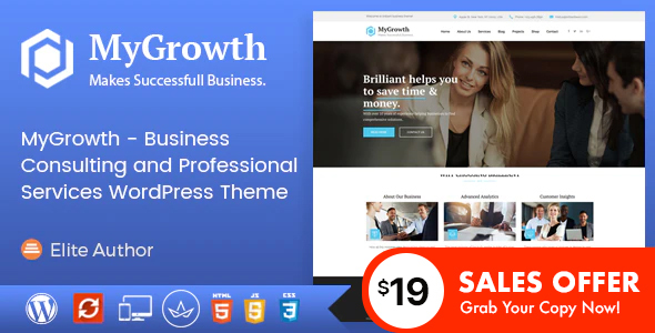My Growth – Enterprise Consulting and Authentic Companies and products WordPress Theme – WP Theme Download