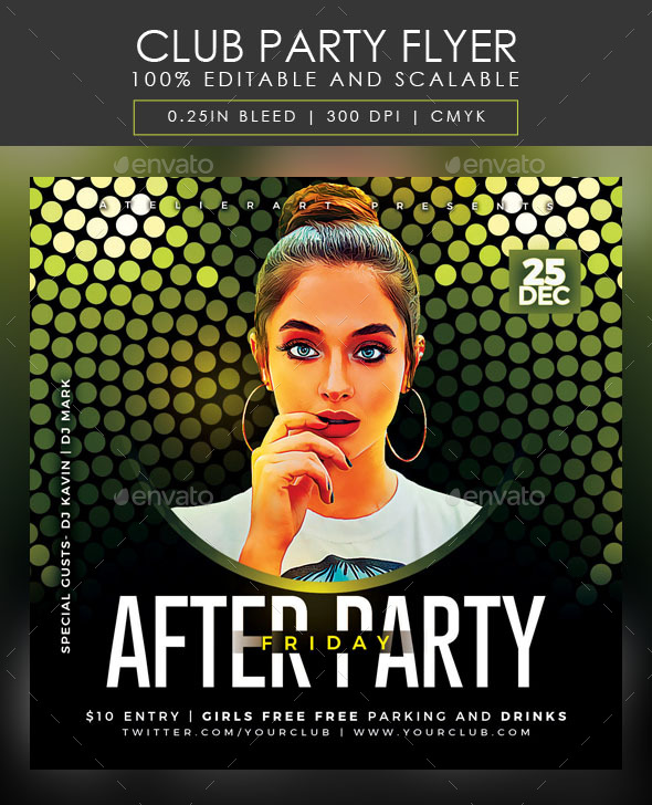 Flyers PSD – Membership Birthday party Flyer – Download