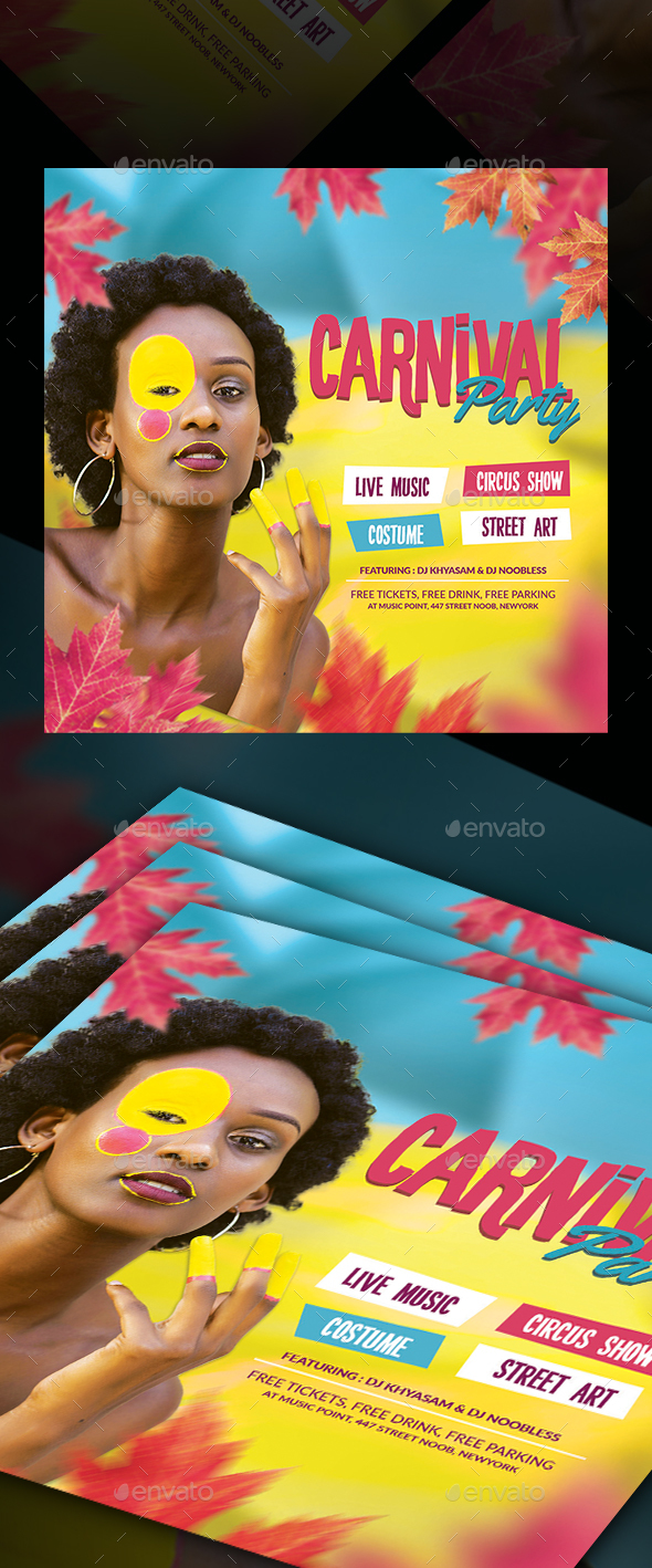 Flyers PSD – Carnival Celebration Flyer Template – Download