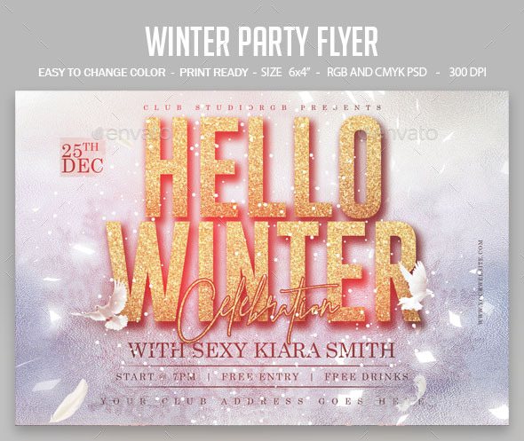 Flyers PSD – Iciness Occasion Flyer – Download