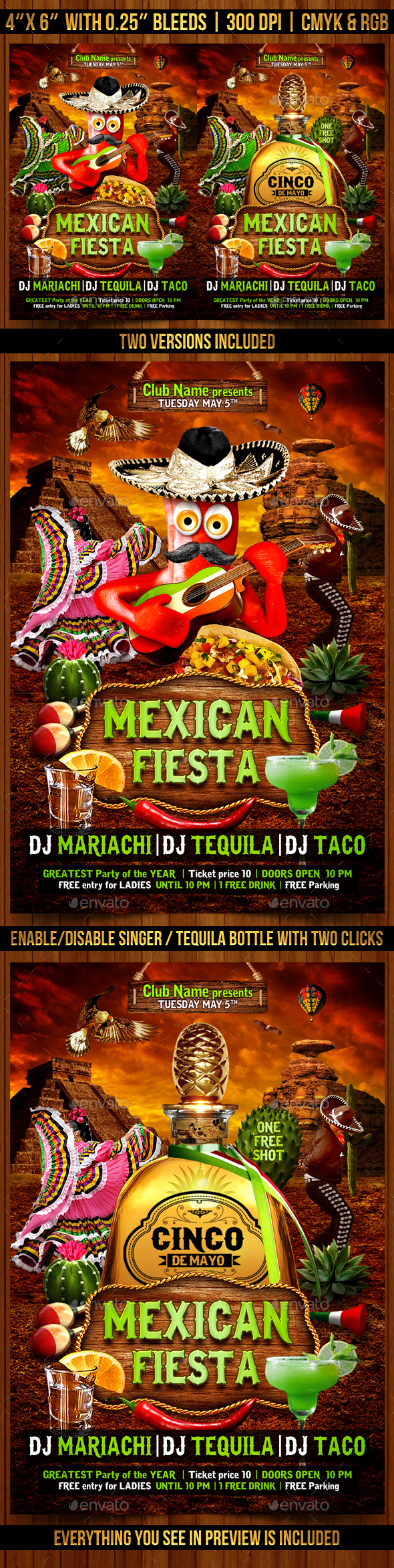 Flyers PSD – Mexican Fiesta Flyer Template – Download