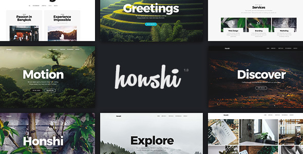 Elementor Inventive Portfolio WordPress Theme – Honshi – WP Theme Download