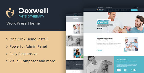 Doxwell : Physical Treatment WordPress Theme – WP Theme Download
