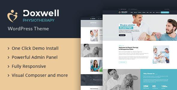 Doxwell : Physical Treatment WordPress Theme – WP Theme Download