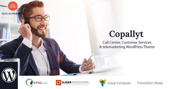 Copallyt : Name Center & Telemarketing WordPress Theme – WP Theme Download