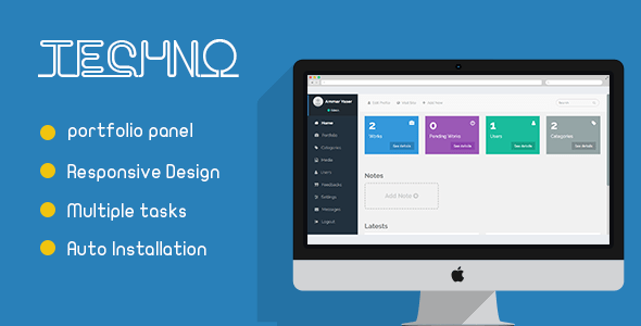 Techno – Portfolio Administration Panel – PHP Script Download