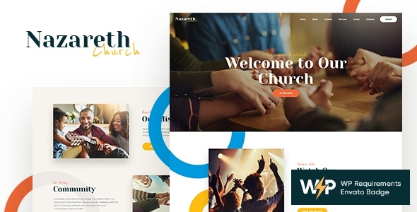 Nazareth | Church & Religion WordPress Theme – WP Theme Download